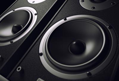 Frontseite von Musikboxen mit Polyurethan Komponenten von Keiko
