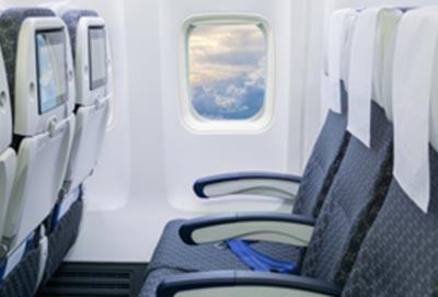 Polyurethan Verwendung bei Flugzeugsitzen