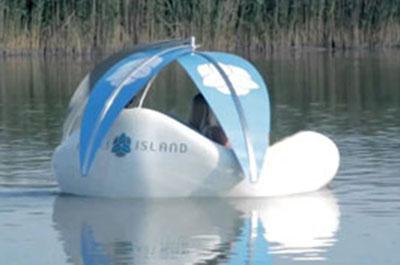 Chilli Island Relax-Elektroboot Verwendung im Wasser